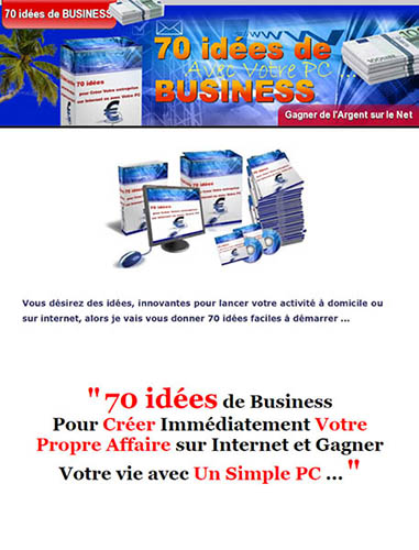 70 idees de business sur internet
