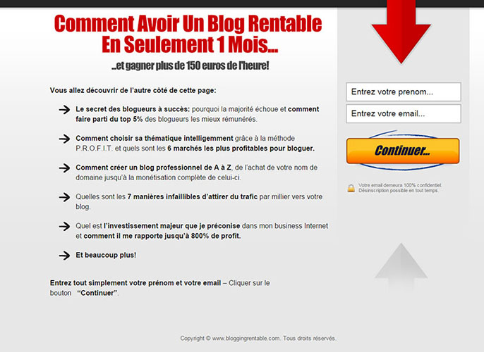 blogging rentable