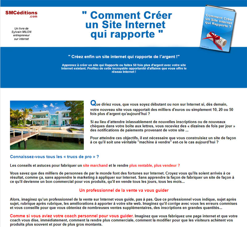 comment creer un site qui rapporte